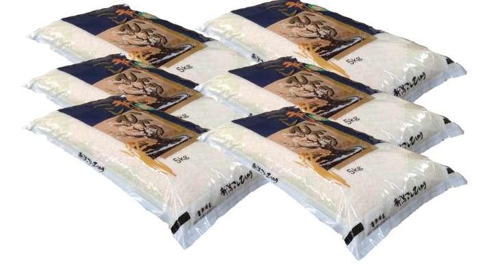 画像1: 【無洗米】令和2年産・新潟県産 特選コシヒカリ30kg(5kg×6袋) (1)